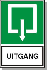 sticker-uitgang